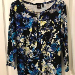 Rafaella 3/4 Sleeve 100 Percent Pullover blouse